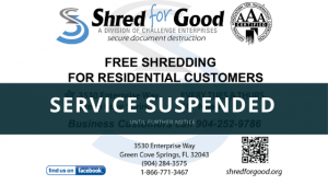 Free Shred Days Suspended Flyer