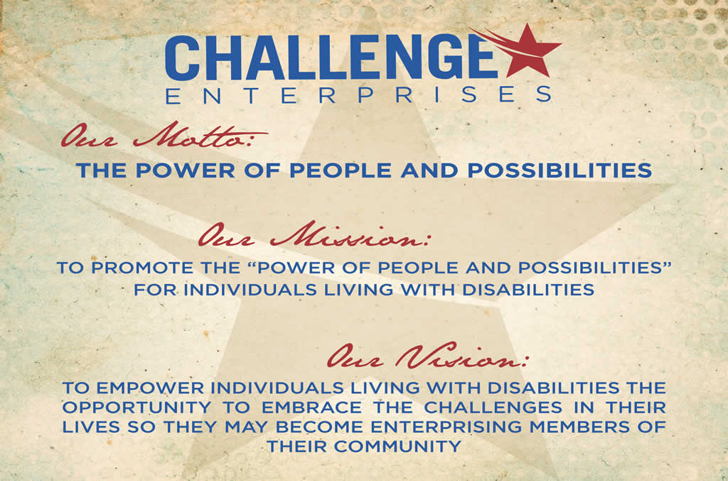 Challenge Enterprises motto, mission and vision