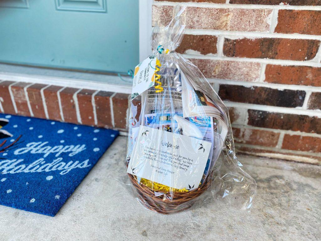 Basket Life Basket sitting on a Doorstep