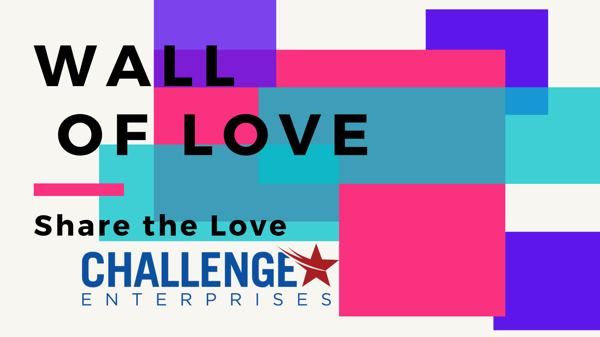 Challenge Enterprises Wall of Love Cover